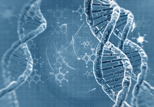 Abstract DNA strands