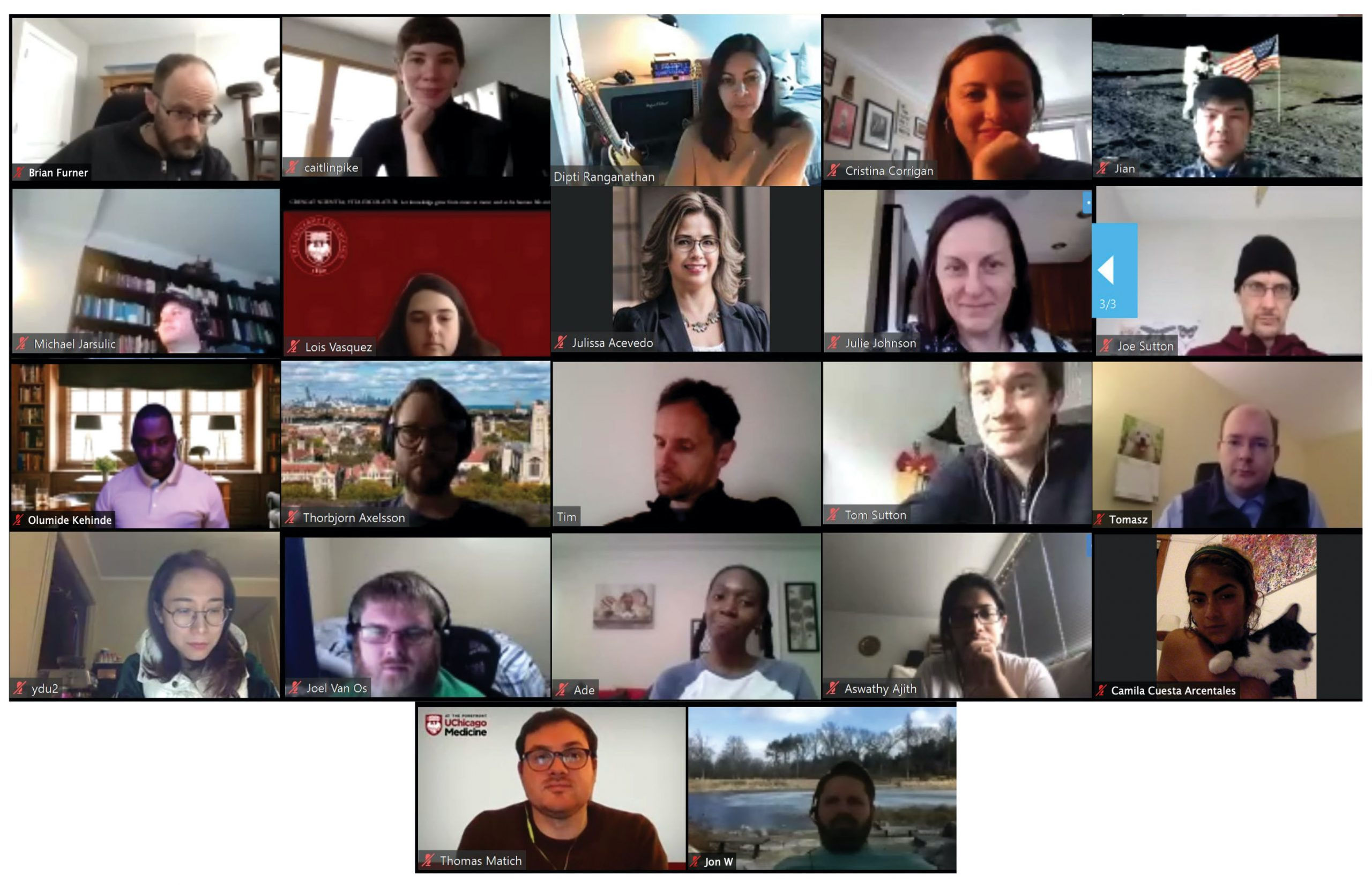 Zoom collage of CRI team members